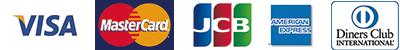 VISA/MaterCard/JCB/AMERIKAN EXPRESS/Diners Club